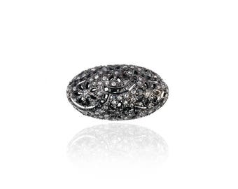 SDC-1637 oval bead Pave Diamond Charm