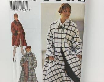 "Vintage Ladies 80's 90's ""Style"" Pattern of Cape Coat sizes 8-18, Never Used Ladies Coat Pattern, Vintage coat pattern"