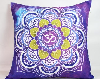 Purple pillow cover 18x18 pillow cover 24x24 mandala pillow cover bohemian pillow shams 24x24 pillow cover throw pillows yoga pillow cushion