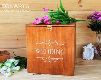 Wooden Wedding Card Box-Wedding Gift-Plywood box-Love Story Keepsake Box-Wedding money box-Wedding card money holder-Love Card Holder