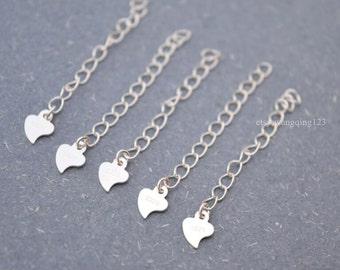 5 pcs sterling silver chain extender necklace bracelet extension chain extender JTXB