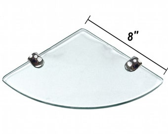 8x8 Floating Corner Shelf Available in a Glossy or Matte Finish