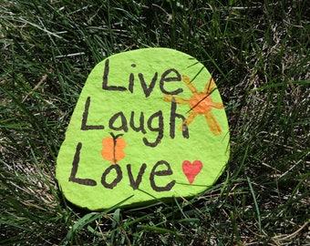 Live, Laugh, Love Garden Rock