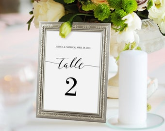 wedding place card template table number name card seating. Black Bedroom Furniture Sets. Home Design Ideas
