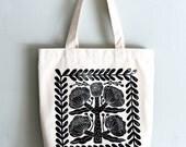 Stone flower eco bag 100% canvas cotton, 360mmX360mm