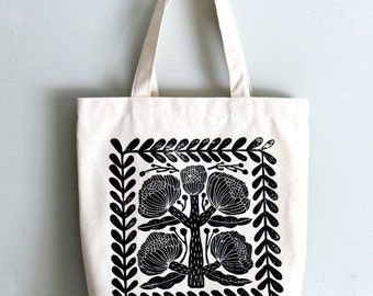 Stone flower eco bag 100% canvas cotton, 360mmX360mm