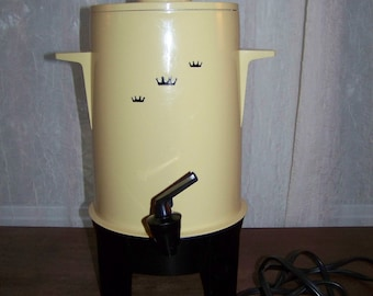 Vintage Coffee Urn Poly-Perk Regal Ware Inc 10-20 Cup Percolator Works Great! USA, Complete