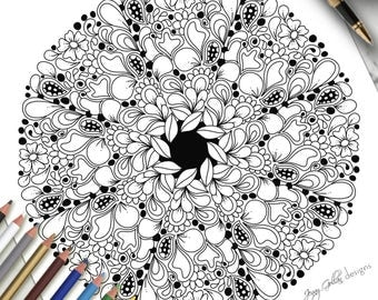 Printable Colouring Page Designer Label 2