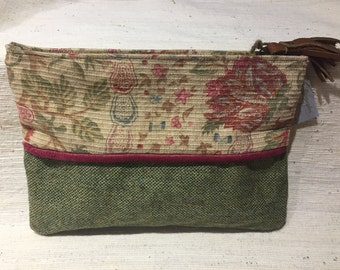 Collection colors faded fabric cover vintage wool tweed