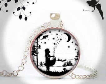 Cabochon necklace long chain STERNTALER fairytale KJR-025-005