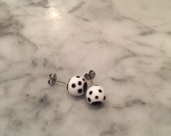White spotted studs