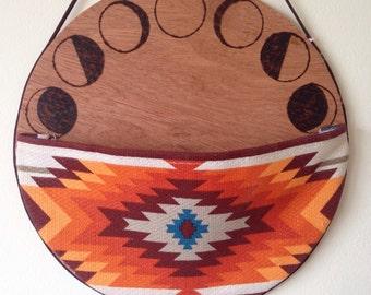 Wood burned aztec catch all