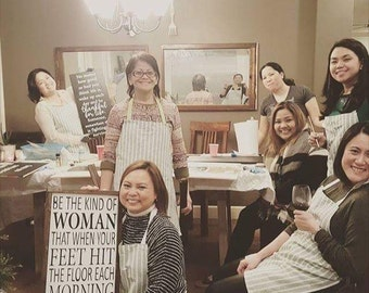 Rustic sign making party