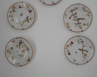5Handmade decoration ginori's plates 5 .5 competent painting shower, antique plates olds plates competent painting shower, Italy RICHARD GINORI COMPETENT PAINTING.