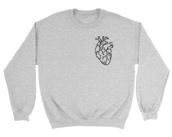Anatomical Heart Sweatshirt *Pocket Print*