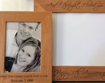 personalized solid wood frame engraved frame custom frame photo frame picture frame - Engraved Picture Frame