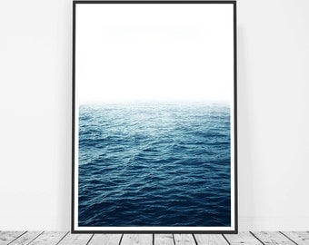 Ocean Photography Print, Ocean Print, Ocean Waves Art Print, Large Wall Art, Ocean Wall Art, Blue Wave Print, Water Print, Ocean Art Print