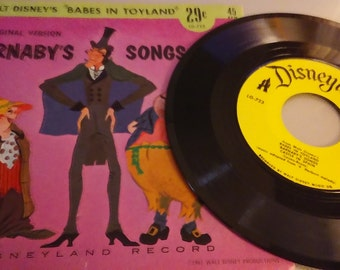 Very Hard to Find!!  45 Rpm Original Version Barnabys Songs