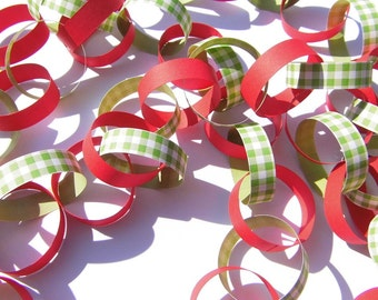Garland red green Partydeko paper Garland Garland table decorations