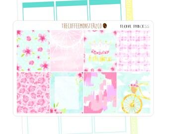 Floral Princess fullboxes ( erin condren planner stickers )
