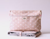 Travel Set Cosmetic BAG, Baby Changing MAT Hearts