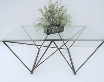 Glass Coffee Table, Rebar Coffee Table, Living Room Table