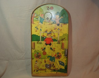 Poosh-m-up. Table de flipper. Football. Footballeurs. Vintage toys. Little boys.