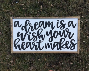a dream is a wish your heart makes sign.