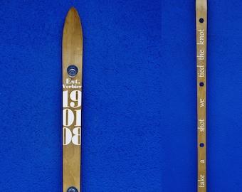 Handmade shot ski with customised message (ShotSki)