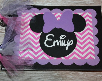 Personalized Disney Autograph Book inspired by Minnie Mouse