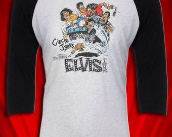 Circle Jerks Vintage Tee Tour Concert Jersey 1980 Return of Elvis