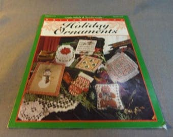Counted Cross Stitch, Holiday Ornaments, 7 Designs, Prize Winners, 1996