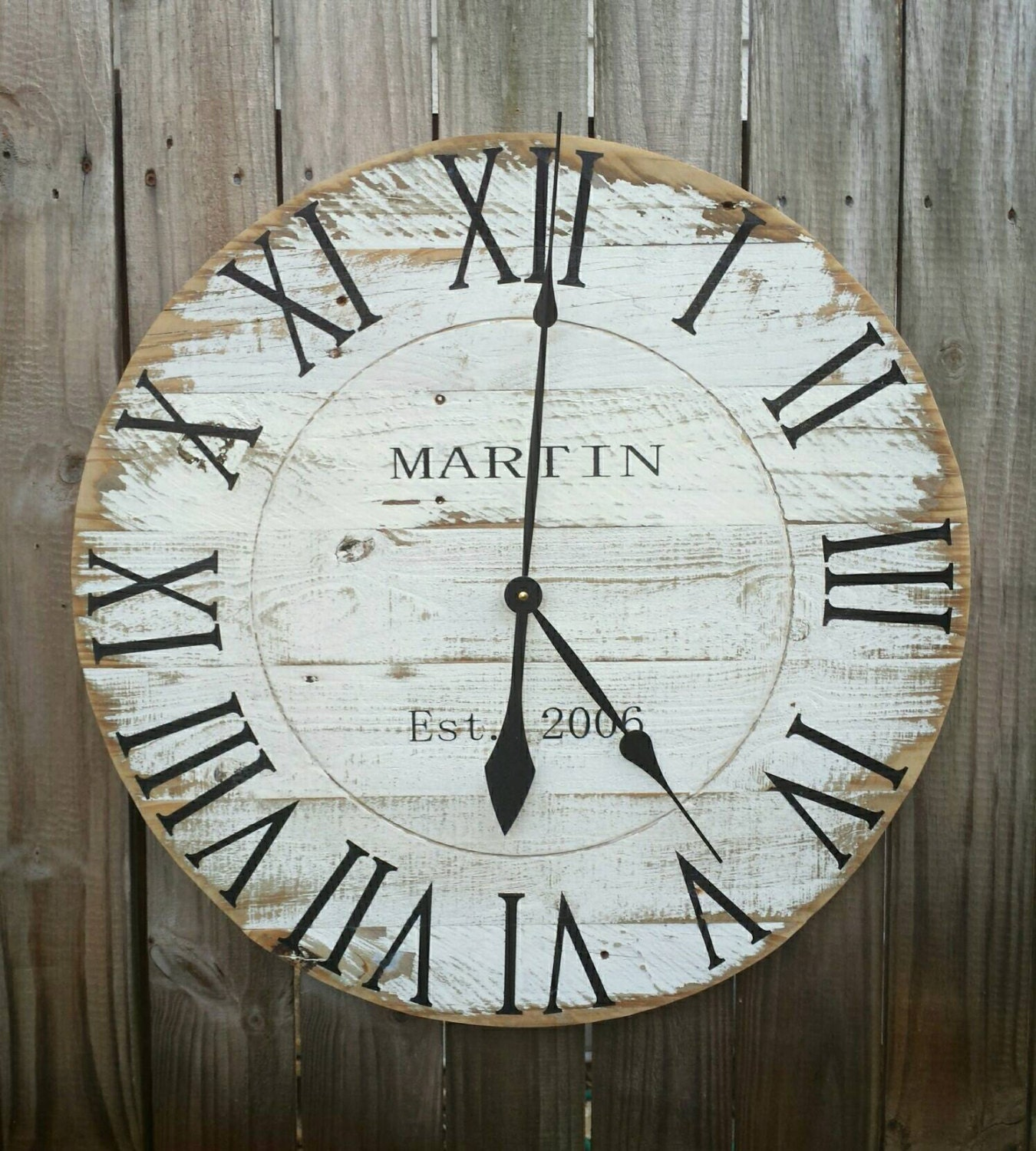 Large Custom Rustic Farmhouse Reclaimed Pallet Wood Clock