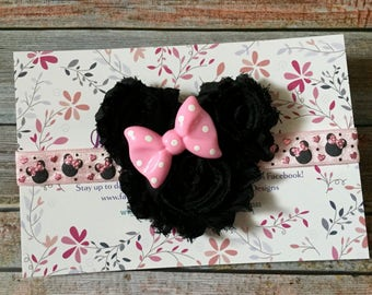 Pink Minnie Mouse Headband, Minnie Mouse Baby Headband, Minnie Mouse, Minnie Headband, Minnie Mouse Bow, Disney Headband, Baby Headband