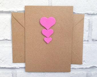 Valentine's card, I love you card, Heart card, Love card, Anniversary card, Card for husband, Card for wife, Card for partner, I love u