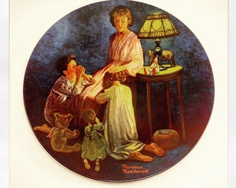 Norman Rockwell Collectors Plate 1981 Second Edition Mother's Blessing