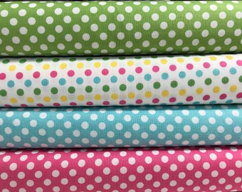 Bundle of 4 Small Dot Fabrics from Riley Blake, Cotton Fabric, Choose the Cut