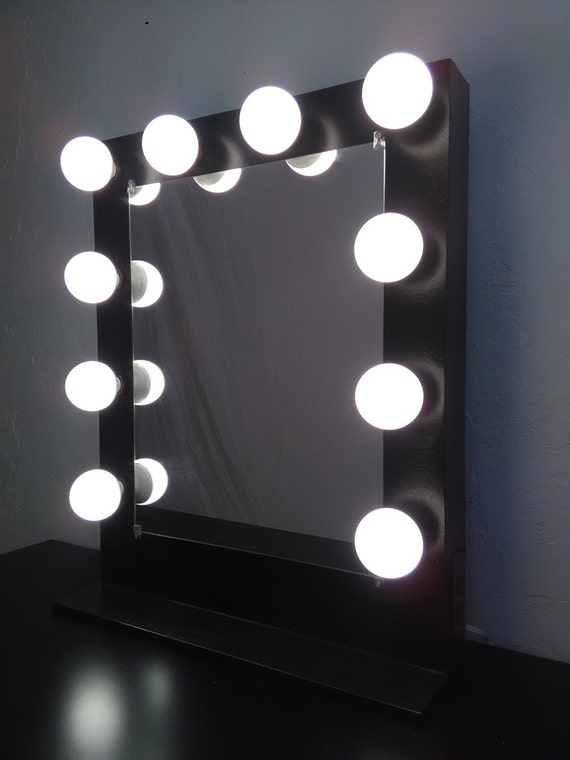 Items similar to Vanity mirror with lights + Dimmer and 2plug outlet on Etsy
