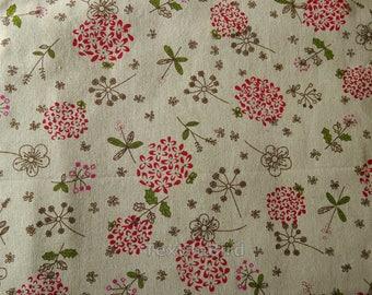 Meadow Flowers cotton canvas linen - 150 cm wide
