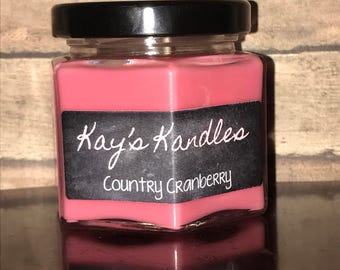 Country Cranberry - Pure Soy Candle Scented