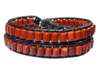 Mens bracelet classic 454 Jasper
