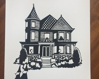 Haunted House Screenprint