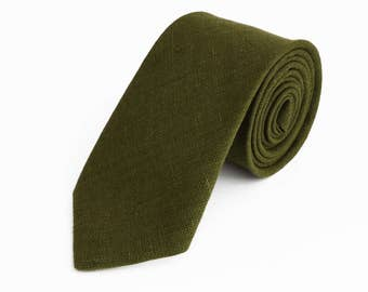 Olive Green Necktie For Wedding / Necktie For Groomsmen / Olive Green Pocket Square With Necktie / green Men Necktie / Green Bow tie For Men
