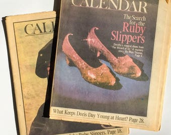 Ruby Slippers LA Times Calendar Magazines RARE Collectible Wizard of Oz