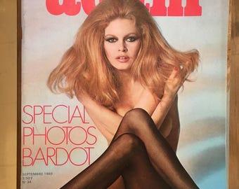 vintage 1969 ADAM magazine, Brigitte Bardot