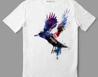 Crow t-shirt, man t-shirt