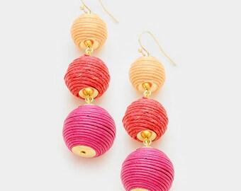 Bon Bon Thread Ball earrings