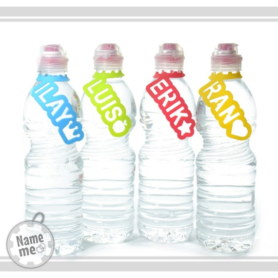 Water Bottle Name Tags: Items Similar To Water Bottle Labels With An Icon