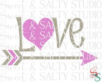 love heart arrow digital file