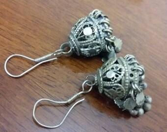 Vintage Afghan Earrings, Nomad Handmade Tribal Kuchi Earrings, Gypsy Jewelry, Ethnic Jewelry